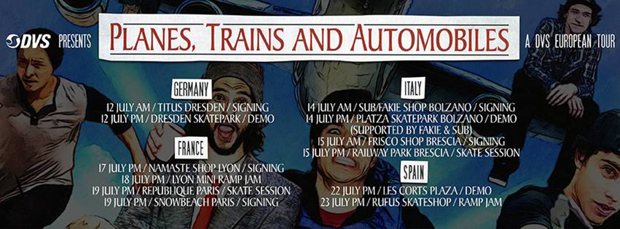 DVS_PLANES, TRAINS and AUTOMOBILES_european tour 20914.