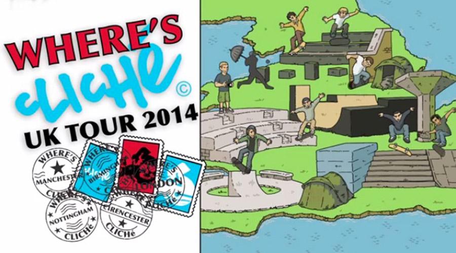 "Cliché Skateboards ""Where's Cliché?""_UK Tour video."