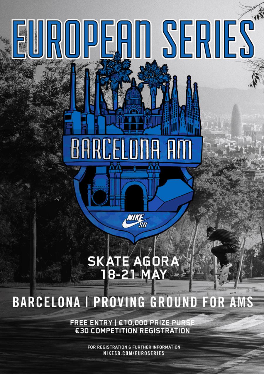 Nike SB Barcelona AM and SLS Nike SB Pro Open 2017.